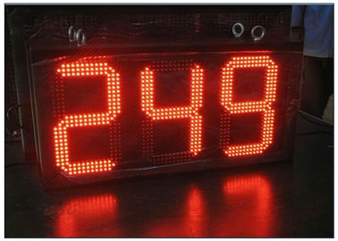 Digital Clock Remote Stacja benzynowa Tri Color LED Sign Ultra Thin High Brightness