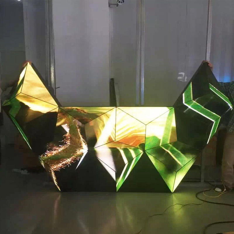 Triangle Dj Club Diy Led Display 3d , Led Video Wall Panel For Stage / Concert / Tv Station